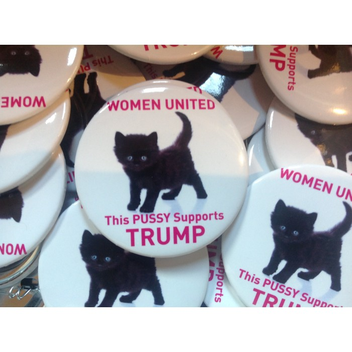 This Pussy Support Trump Commemorative Button