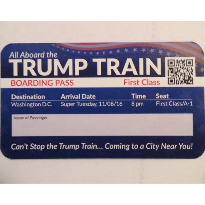 Trump Train Boarding Passes<br />(Package of 25)
